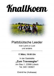 """Frühjahrskonzert auf dem Priwall @ Restaurant """"Seglermesse"""
